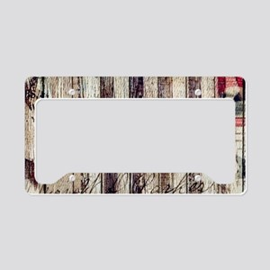 barn wood rustic Americana License Plate Holder